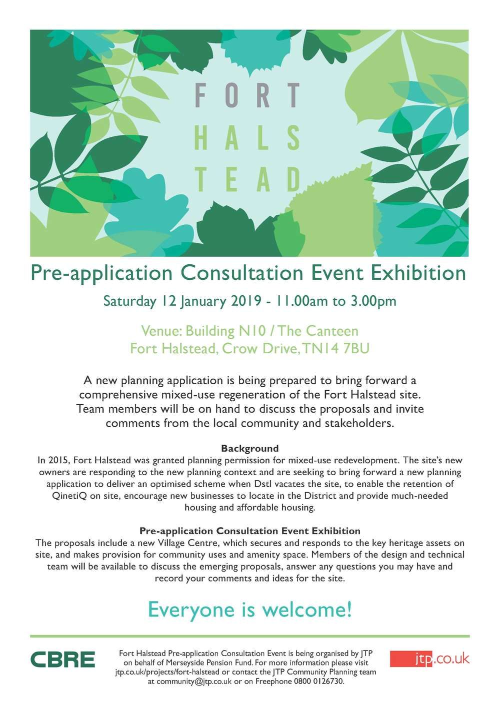 Fort Halstead Consultation 12th January