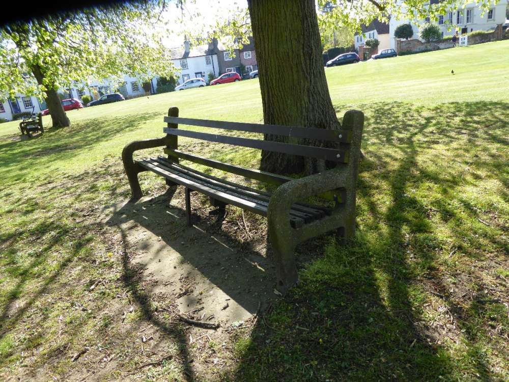 Bench - RHS of Notice board - Bessels Green.JPG