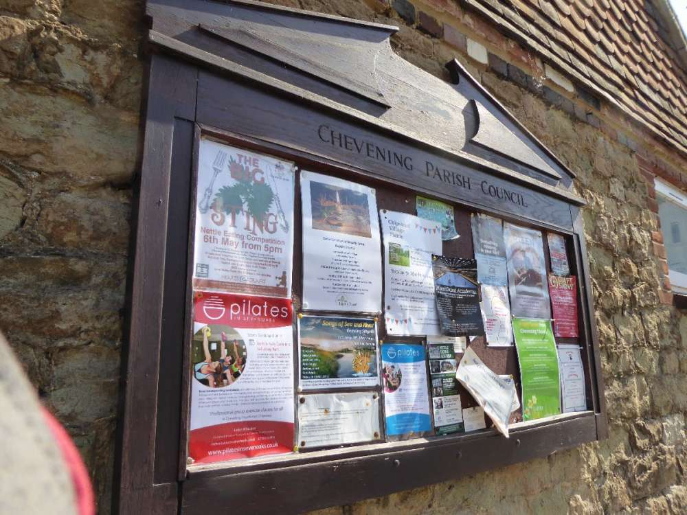 Notice Board - Chevening Road.JPG